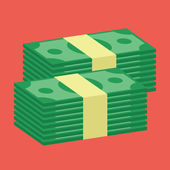 Vector Stacks of Dollars Icon — Stock Vector