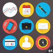 Wektorowe ikony dla sieci web i aplikacji mobilnych. zestaw 1. — Wektor stockowy