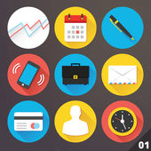 Vector Icons for Web and Mobile Applications. Set 1. — Stockvektor