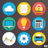 Vector Icons for Web and Mobile Applications. Set 2. — Stockvector
