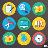 Vector Icons for Web and Mobile Applications. Set 6. — Cтоковый вектор