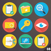 Vector Icons for Web and Mobile Applications. Set 8. — Stock Vector
