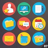 Wektorowe ikony dla sieci web i aplikacji mobilnych. zestaw 7. — Wektor stockowy