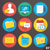 Vector Icons for Web and Mobile Applications. Set 7. — Stockvektor