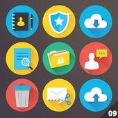 Vector Icons for Web and Mobile Applications. Set 9. — ストックベクタ