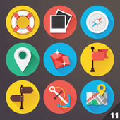 Vector Icons for Web and Mobile Applications. Set 11. — Stock vektor
