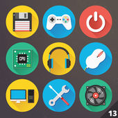 Vector Icons for Web and Mobile Applications. Set 13. — Stock vektor