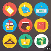 Vector Icons for Web and Mobile Applications. Set 15. — Stockvektor