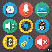 Vector Icons for Web and Mobile Applications. Set 12. — Cтоковый вектор