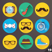 Vector Icons for Web and Mobile Applications. Set 19. — Stock Vector