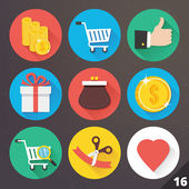 Vector Icons for Web and Mobile Applications. Set 16. — Stock Vector