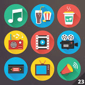 Vector Icons for Web and Mobile Applications. Set 23. — Stock Vector
