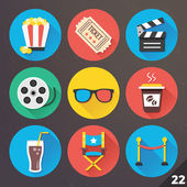 Vector Icons for Web and Mobile Applications. Set 22. — Vettoriale Stock