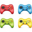 Stock Vector: Gamepad Set2