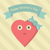 Vektor söt glad alla hjärtans dag illustration — Stockvektor