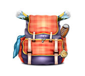 Travel Backpack — Stock Vector