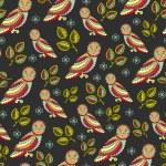 Dark Owl Pattern — Stock Vector