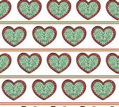 Heart Pattern — Vettoriale Stock