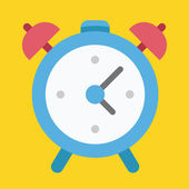 Vector Alarm Clock Icon — Stock Vector