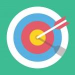 Vector Target Marketing Icon — Stock Vector
