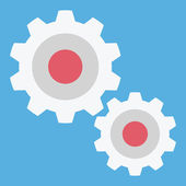 Vector Gears Icon — Stock Vector