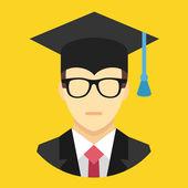 Vector Graduation Man Icon — Stock Vector