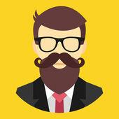 Vector Hipster Icon — Stock Vector