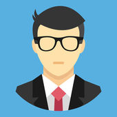 Vector Man in Business Suit Icon — Stock Vector