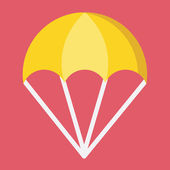 Vector Parachute Icon — Stock Vector