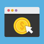 Vector Pay Per Click Icon — Stock Vector