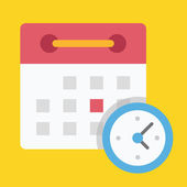 Vector Schedule Icon — Stock Vector
