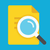 Vector Search the Document Icon — Stock Vector