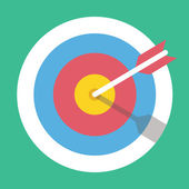 Vector Target Marketing Icon — Stockvektor