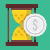Vector Time is Money Concept Icon — Stock Vector