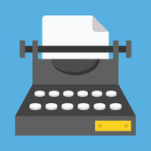 Vector Typewriter Icon — Stock Vector