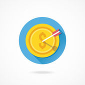 Gold Coin and Arrow — Stockvector
