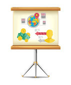 Presentation Board — Stock Vector