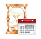 Hourglass and Calendar — Vector de stock