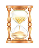 Hourglass with Money — Stock Vector