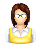 User Woman with Glasses Icon — Stock Vector