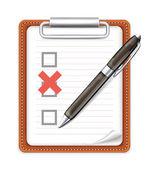 Vector Form Pen and X Mark Icon — Stock Vector