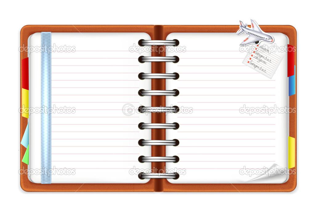 打开笔记本 — 矢量图片作者