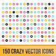 Set of 150 Colorful Icons for Mobile and Web — Stock Vector #47777861