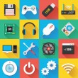 Modern Flat Icons for Web and Mobile Applications Set 3 — Stock Vector #47777911