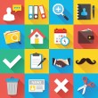 Modern Flat Icons for Web and Mobile Applications Set 12 — Stock Vector