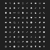 Set of 100 Stylish Universal Icons for Web and Mobile — Stock Vector