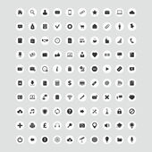 100 Universal Vector Icons for Web and Mobile — Stock Vector