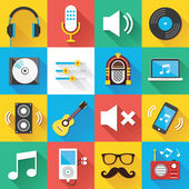 Modern Flat Icons for Web and Mobile Applications Set 4 — Stock Vector