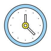 Vector Flat Line Design Concept Clock Icon — Stock Vector