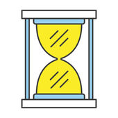 Vector Flat Line Design Concept Hourglass Icon — Stock Vector
